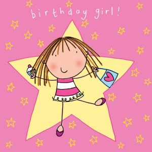 TW621 – Happy Birthday Card For Girl Dancing Diva